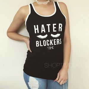 Time Los Angeles hater blockers lashes tank top